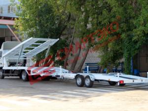 Автовозный прицеп двухосный 4500 мм
