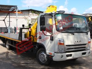 Эвакуатор JAC N80 с КМУ